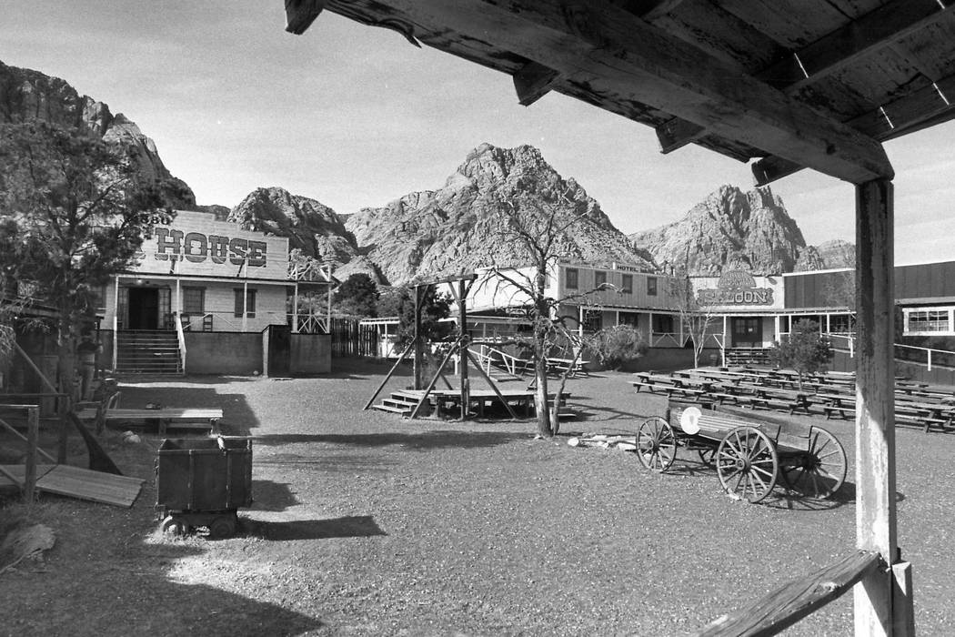 Bonnie Springs, a replica of an old western Nevada town, in an undated photo. (Las Vegas Review-Journal file)