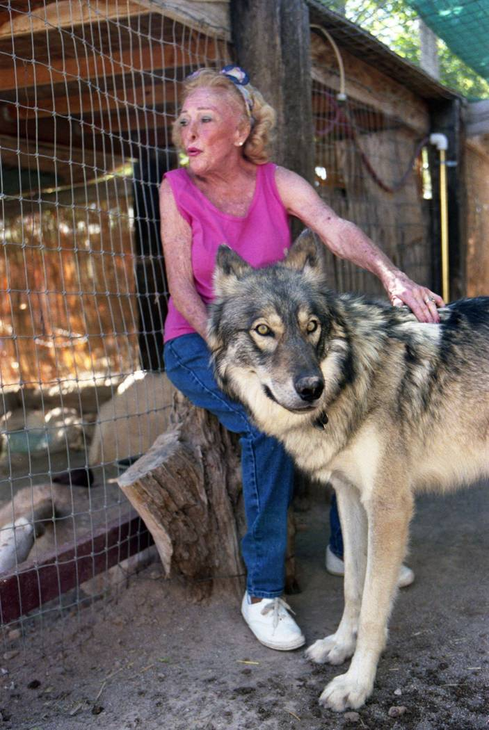 Bonnie Springs/Old Nevada founder Bonnie Levinson at her petting zoo in September 1997. (Las Vegas Review-Journal file)