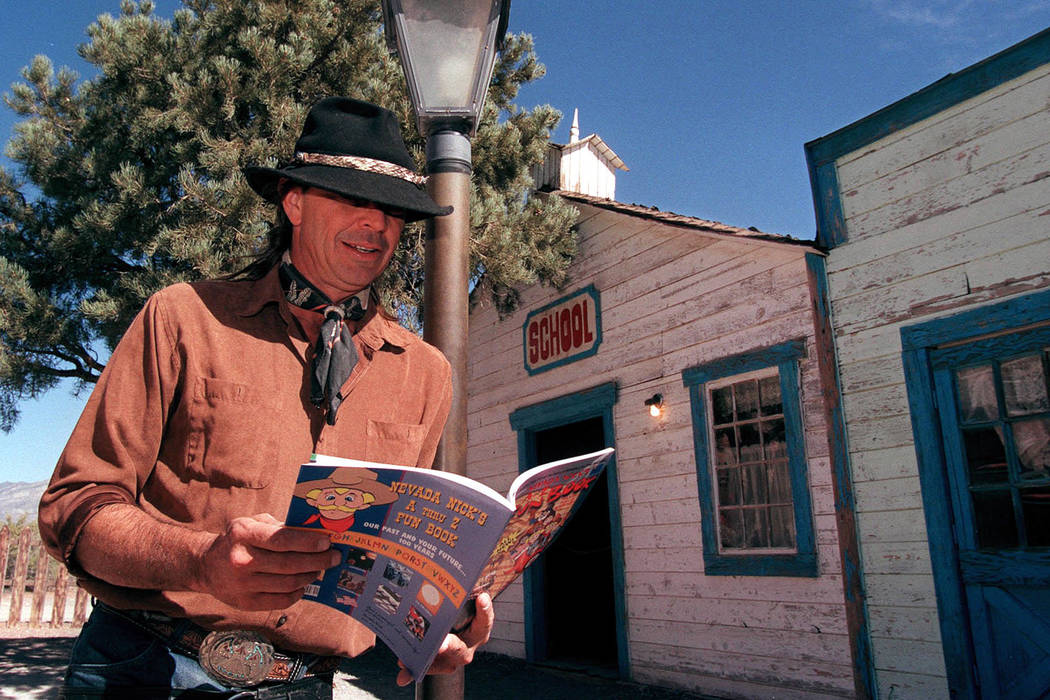 Billy Miller, aka Nevada Nick, poses at Bonnie Springs Ranch, Oct. 14, 2003. (Las Vegas Review-Journal file)