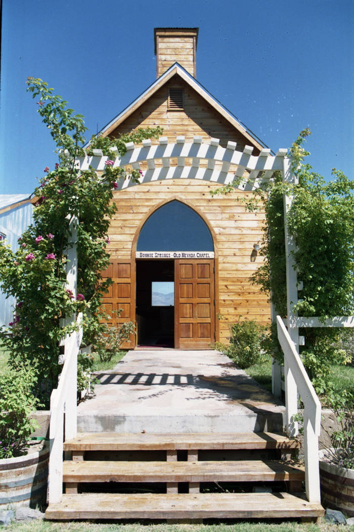 An old Methodist chapel at the Old Nevada Mining Town at Bonnie Springs/Old Nevada, August 1997. (Las Vegas Review-Journal file)