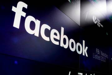 Facebook logo. (AP Photo/Richard Drew, File)