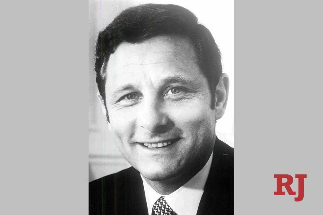 Birch Bayh, the former Indiana senator who led the fight for gender equality in college admissions and sports, died Thursday. He is shown in a 1970 Review-Journal file photo.