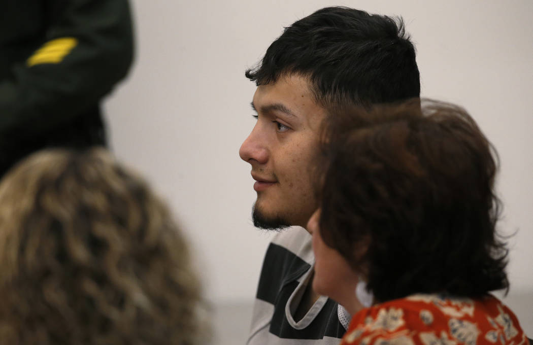 Wilber Martinez-Guzman appears in Carson City Justice Court in Carson City on Jan. 24, 2019. Martinez-Guzman, a Salvadoran immigrant in the country illegally, faces murder charges in the killing ...