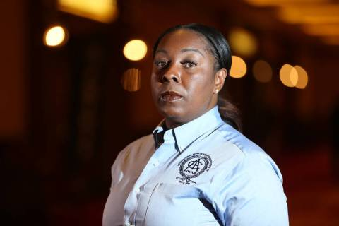 Henderson Police Department Chief LaTesha Watson has been placed on administrative leave until further notice, the city announced Thursday, March 14. (Erik Verduzco Las Vegas Review-Journal @Erik_ ...