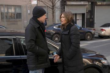 "Mariska Hargitay stars as Lt. Olivia Benson and Dean Winters as Brian Cassidy ""Law and Order: Special Victims Unit."" (Peter Kramer/NBC)"