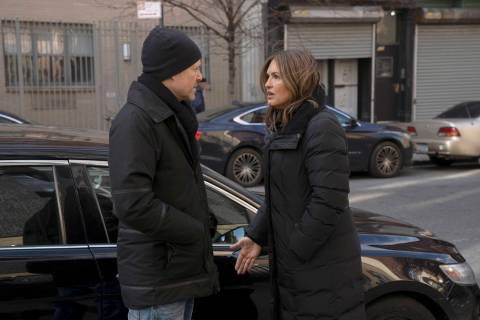 "Mariska Hargitay stars as Lt. Olivia Benson and Dean Winters as Brian Cassidy ""Law and Order: Special Victims Unit."" (Peter Kramer/NBC)"
