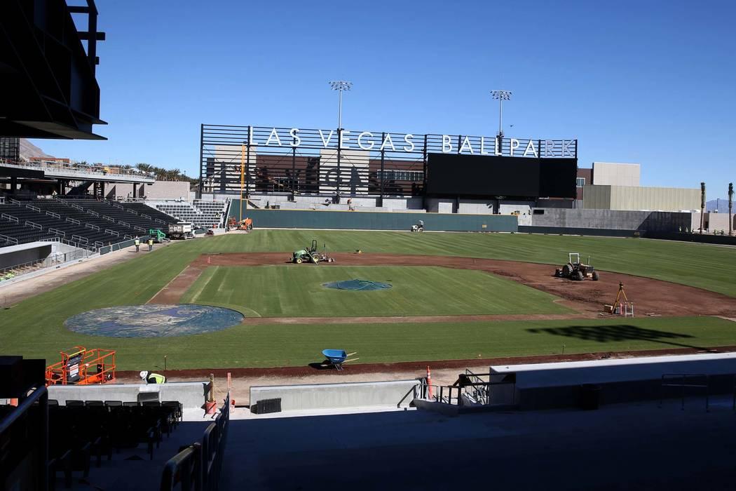 Aviators Las Vegas Ballpark Gets Installation Of Grass