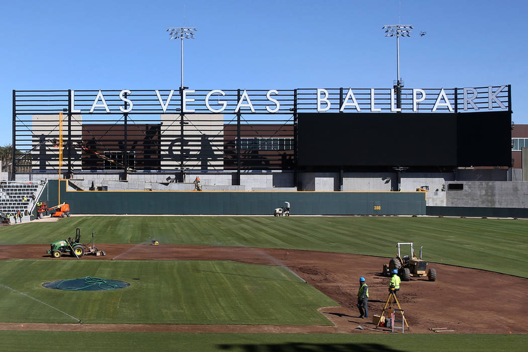 Construction continues at Las Vegas Ballpark Thursday, March 14, 2019. (K.M. Cannon/Las Vegas Review-Journal) @KMCannonPhoto