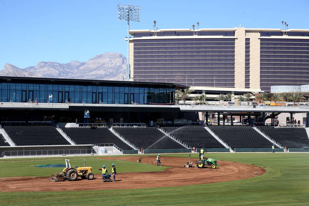 Field work continues at Las Vegas Ballpark Thursday, March 14, 2019. (K.M. Cannon/Las Vegas Review-Journal) @KMCannonPhoto