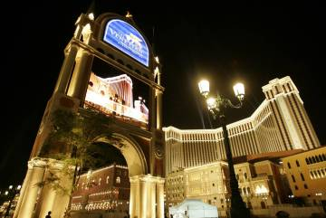 The Venetian Macao Resort Hotel is shown in Macau. (AP Photo/Kin Cheung, File)