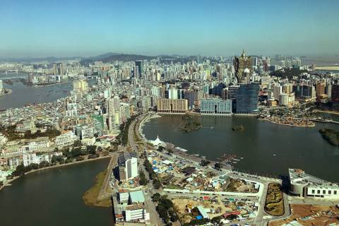 This Jan. 11, 2018 file photo shows a view from the Macau Tower. (Chitose Suzuki / Las Vegas Review-Journal)