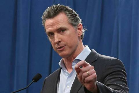 Calif. Gov. Gavin Newsom answers questions at a Capitol news conference, in Sacramento, Calif., Feb. 11, 2019. (Rich Pedroncelli/AP, File)