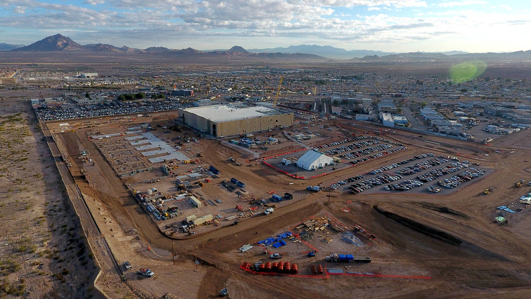 Aerial view of the Google Data Center under construction in Henderson, Nevada on Monday, March 11, 2019. (Michael Quine/Las Vegas Review-Journal) @Vegas88s