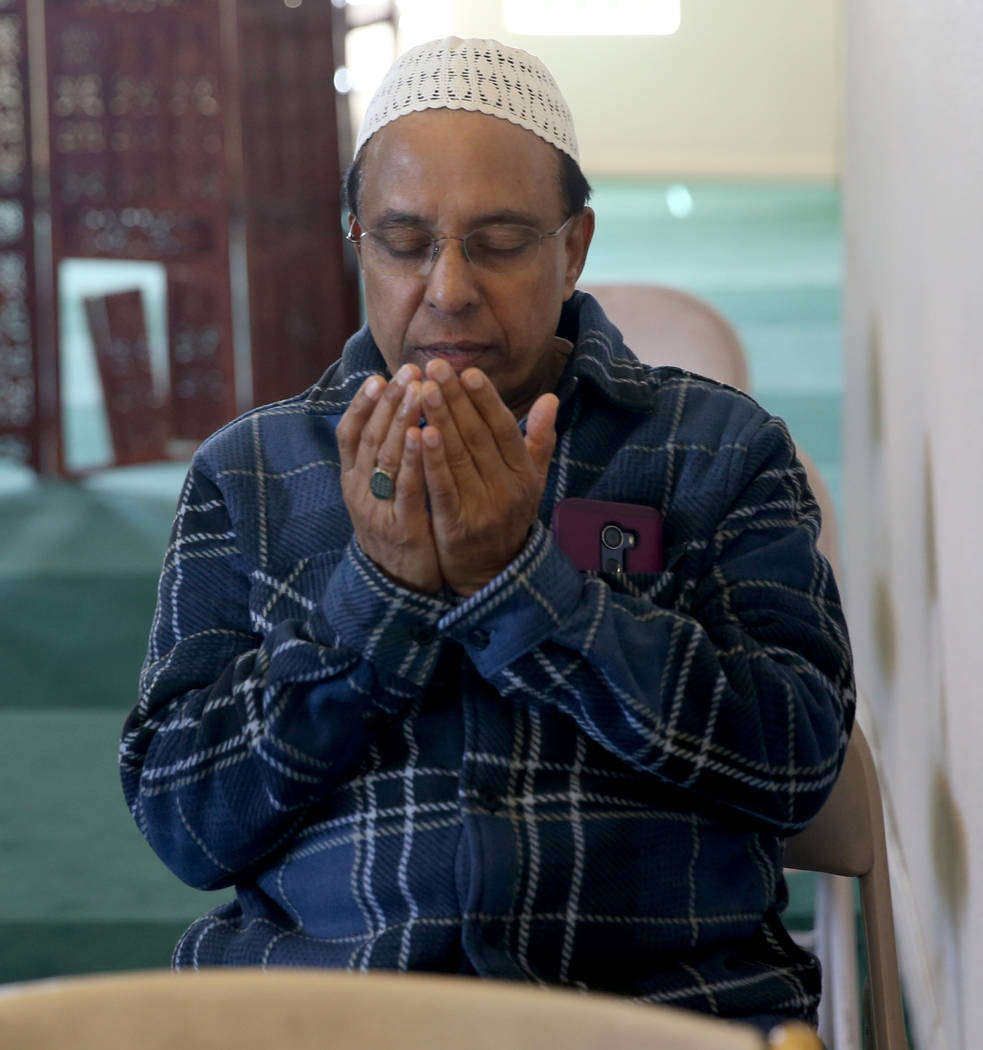 Syed Ali of Las Vegas after a prayer service at the Mosque of Islamic Society of Nevada in Las Vegas Friday, March 15, 2019. (K.M. Cannon/Las Vegas Review-Journal) @KMCannonPhoto