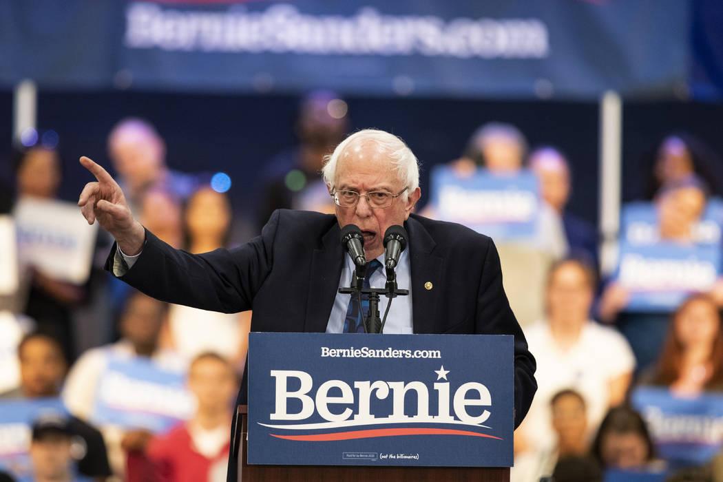 Bernie Sanders speaks at rally in Henderson