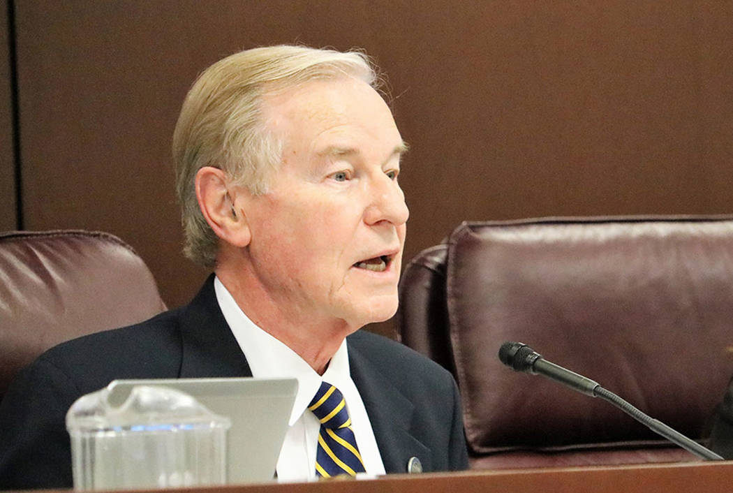 Sen. David Parks, D-Las Vegas, seen in 2017 in Carson City. (Las Vegas Review-Journal)
