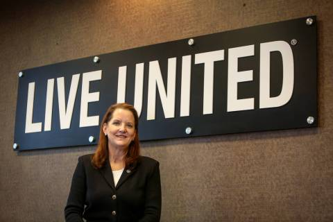 CEO of United Way of Southern Nevada Kyle Rahn poses for a portrait in a conference room at the United Way of Southern Nevada office in Las Vegas, Tuesday, March 12, 2019. (Caroline Brehman/Las Ve ...