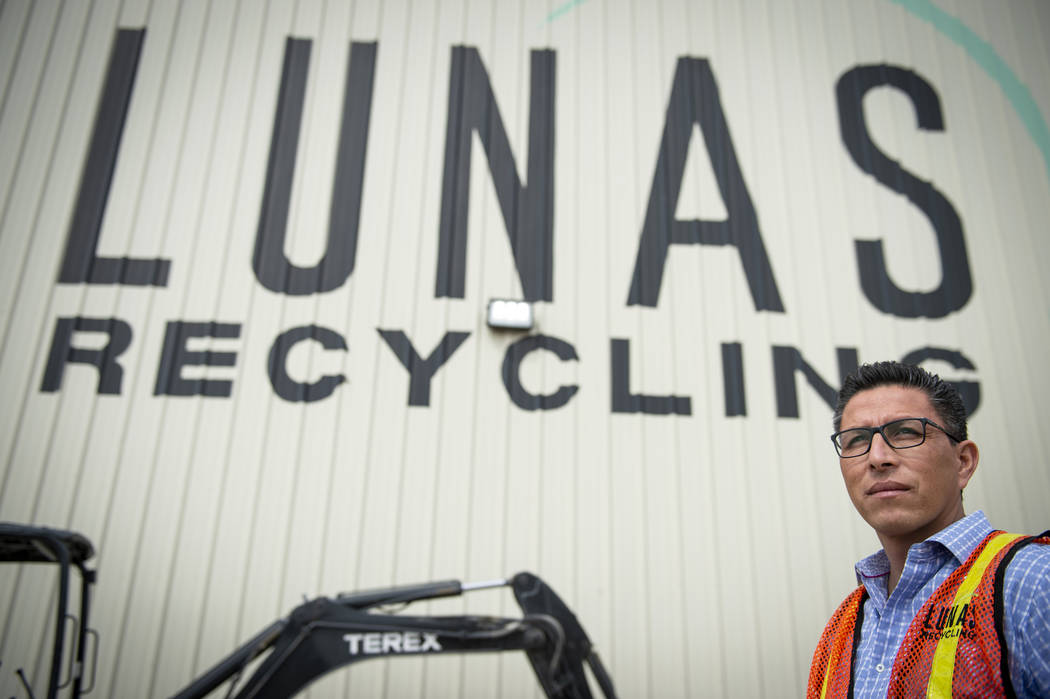 Norberto Madrigal is a co-owner of Lunas, a family-owned construction cleanup company in Las Vegas. (Caroline Brehman/Las Vegas Review-Journal) @carolinebrehman
