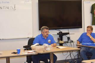 Bob Lomassaro, president of the International Plastic Modelers Society Las Vegas chapter, holds the meeting on Wednesday, March 13. (Rachel Spacek/Las Vegas Review-Journal @Rachel Spacek)