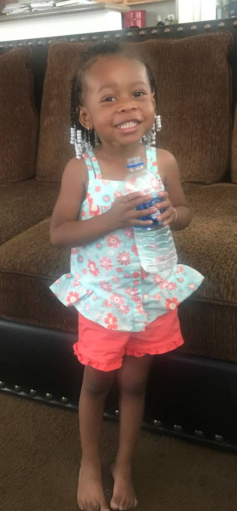 Three-year-old Zaela Walker was reported missing in August. (North Las Vegas Police Department)