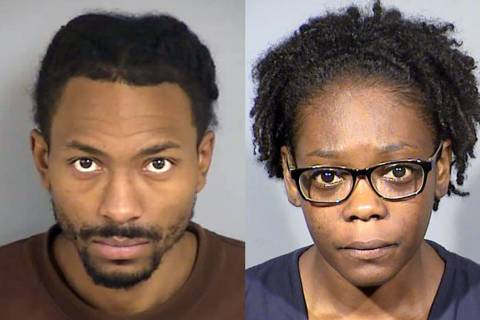 Ricky Beasley, left, and Lakeia Walker (NLVPD)