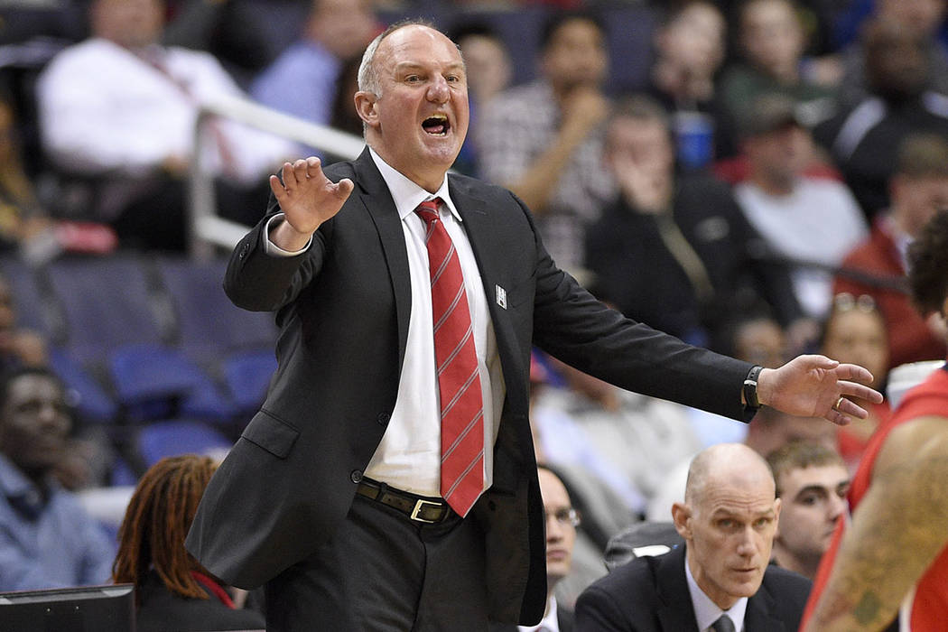 In this March 8, 2017, file photo, Ohio State head coach Thad Matta gestures during the second half of an NCAA college basketball game in the Big Ten tournament against Rutgers, in Washington. (AP ...