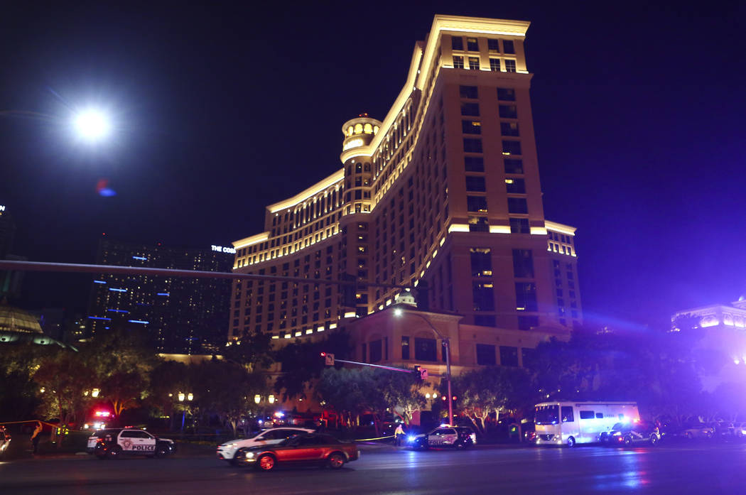Suspect shot after Bellagio robbery dies