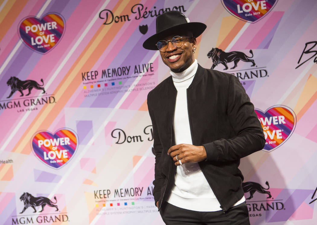 Ne-Yo poses on the red carpet for Keep Memory Alive's 23rd annual Power of Love gala, raising money for Cleveland Clinic Lou Ruvo Center for Brain Health's programs and services, at the MGM Grand ...