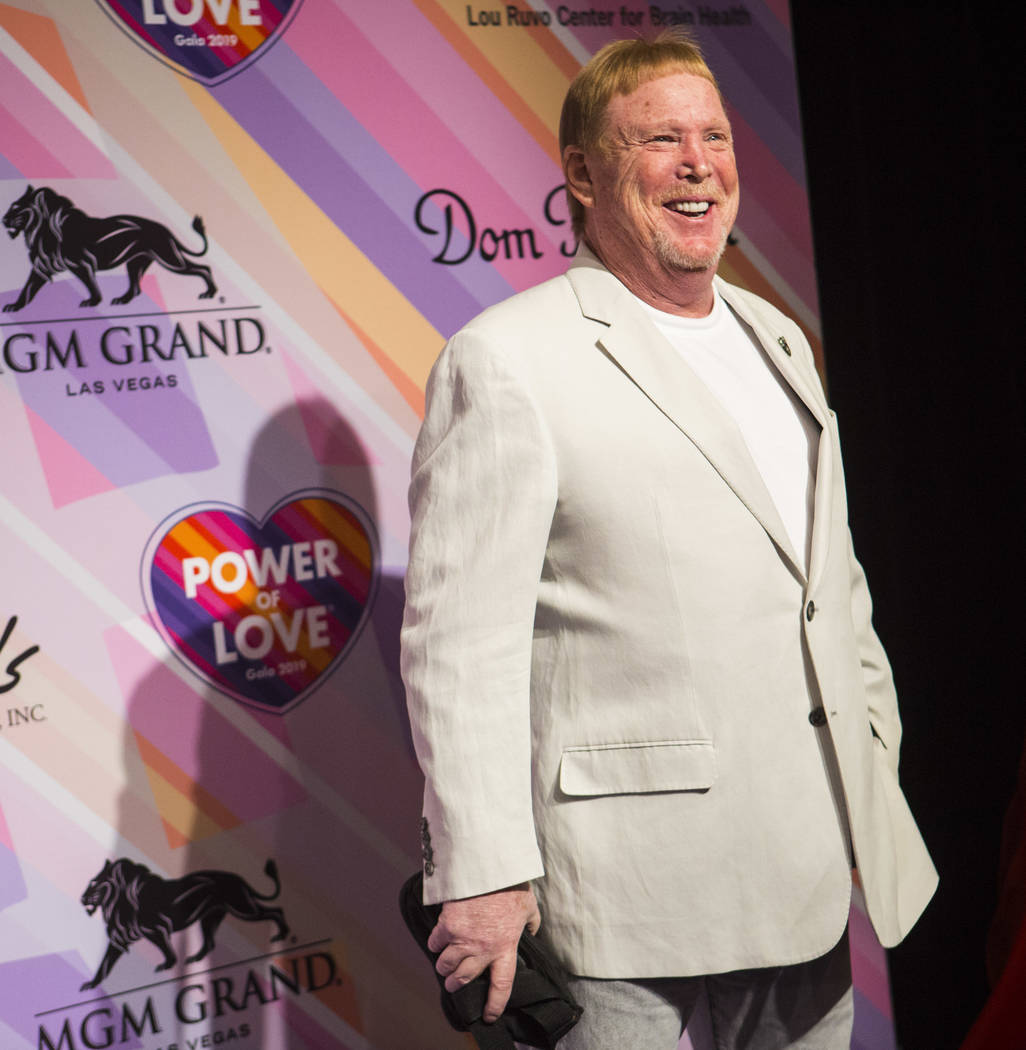 Oakland Raiders owner Mark Davis poses on the red carpet for Keep Memory Alive's 23rd annual Power of Love gala, raising money for Cleveland Clinic Lou Ruvo Center for Brain Health's programs and ...