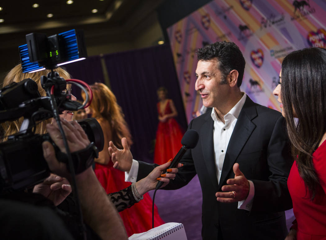 Dr. Marwan Sabbagh, director of the Cleveland Clinic Lou Ruvo Center for Brain Health, is interviewed on the red carpet for Keep Memory Alive's 23rd annual Power of Love gala, raising money for Cl ...