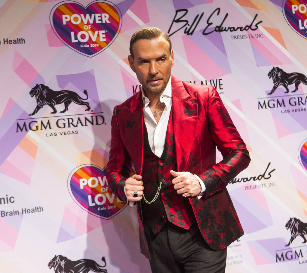Matt Goss poses on the red carpet for Keep Memory Alive's 23rd annual Power of Love gala, raising money for Cleveland Clinic Lou Ruvo Center for Brain Health's programs and services, at the MGM Gr ...