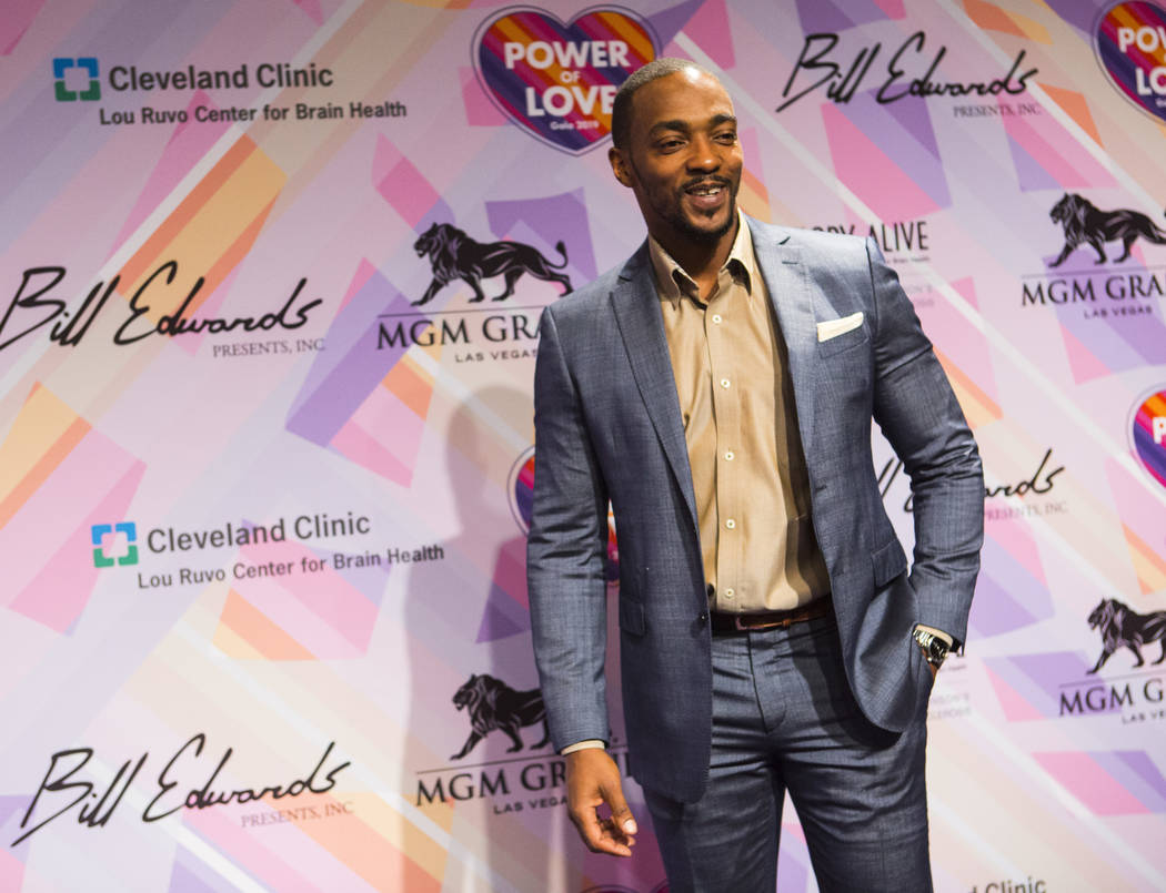 Anthony Mackie poses on the red carpet for Keep Memory Alive's 23rd annual Power of Love gala, raising money for Cleveland Clinic Lou Ruvo Center for Brain Health's programs and services, at the M ...