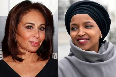 """This combination photo shows Fox News host Jeanine Pirro at the HBO Documentary Series premiere of """"THE JINX: The Life and Deaths of Robert Durst"""" in New York on Jan. 28, 2015, left, and ..."""