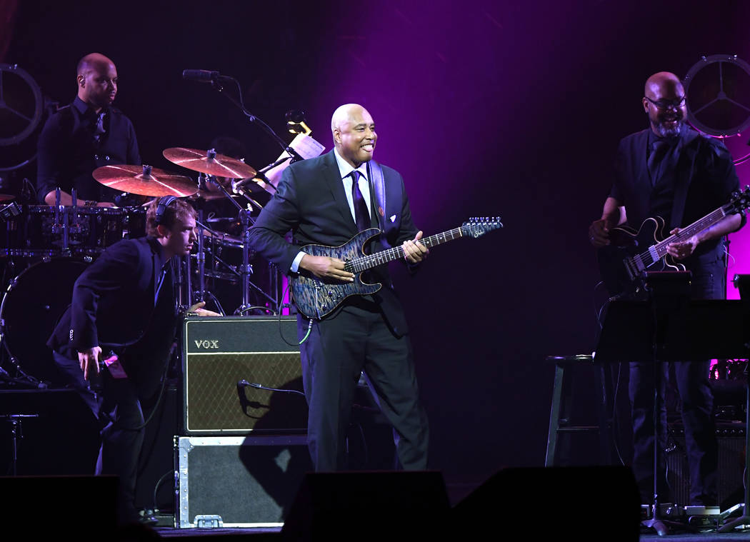 LAS VEGAS, NEVADA - MARCH 16: Bernie Williams performs during the 23rd annual Keep Memory Alive 'Power of Love Gala' benefit for the Cleveland Clinic Lou Ruvo Center for Brain Health at MGM Grand ...