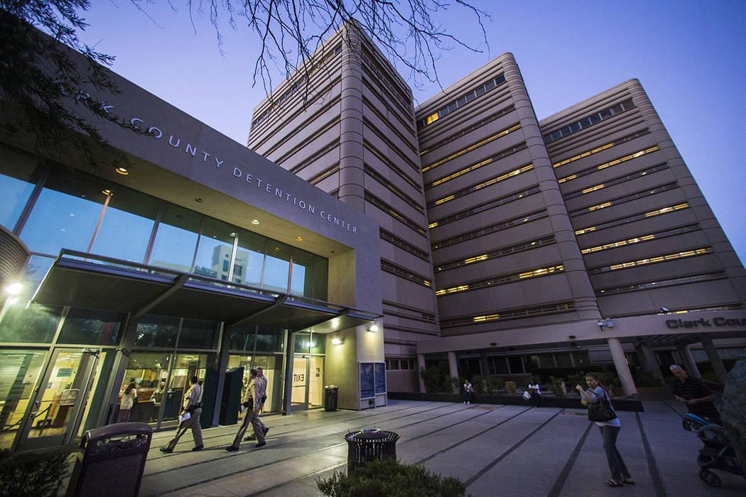 The Clark County Detention Center in downtown Las Vegas (Las Vegas Review-Journal)