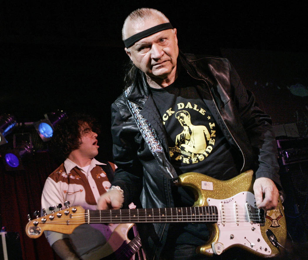 """FILE - In this May 27, 2007 file photo, Dick Dale, known as """"The King of the Surf Guitar,"""" performs at B.B. King Blues Club in New York. Dale has died at age 81. His former bassist Sam Bolle says ..."""