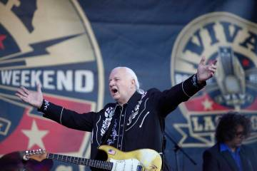Guitar legend, Dick Dale, performs at the 19th Annual Viva Las Vegas Rockabilly Weekender at the Orleans Hotel and Casino on Saturday, April 16, 2016. (Michael Quine/Las Vegas Review-Journal) @Veg ...