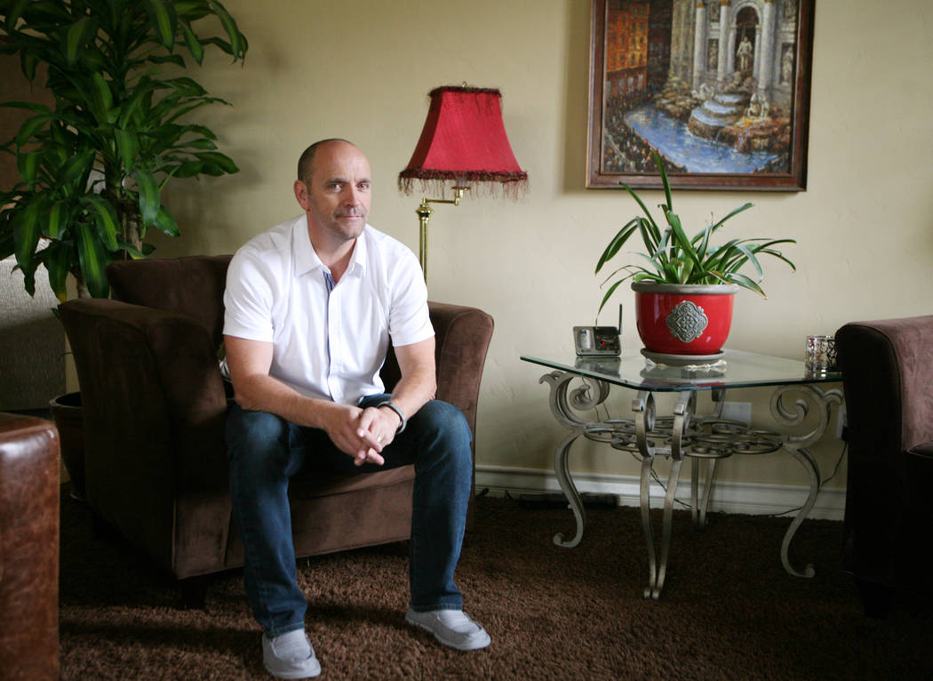 Simon Keith sits in his home Friday, July 12, 2013, in Las Vegas. (Las Vegas Review-Journal)
