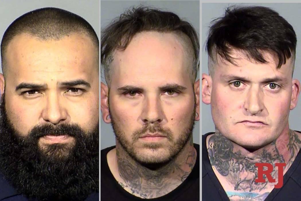Roberto Romero, left, Matthew Norris and Travis Callhan (Las Vegas Metropolitan Police Department)