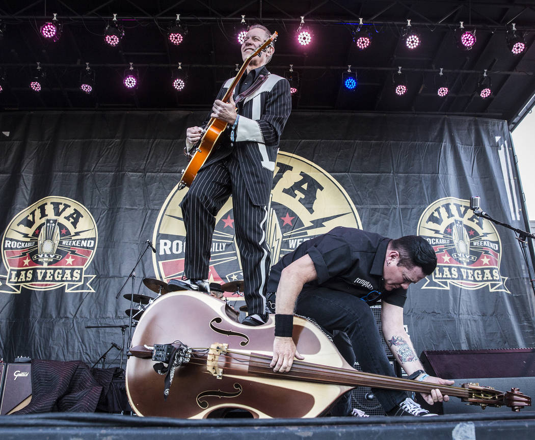 The Reverend Horton Heat performs during the 20th anniversary of the Viva Las Vegas Rockabilly Weekend at The Orleans hotel-casino on Saturday, April 15, 2017, in Las Vegas. The Dallas, Texas-base ...