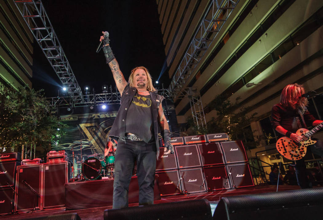 Vince Neil performs at the opening of 3rd Street Concert Venue on Saturday, May 27, 2017. (Patrick Gray/Kabik Photo Group)