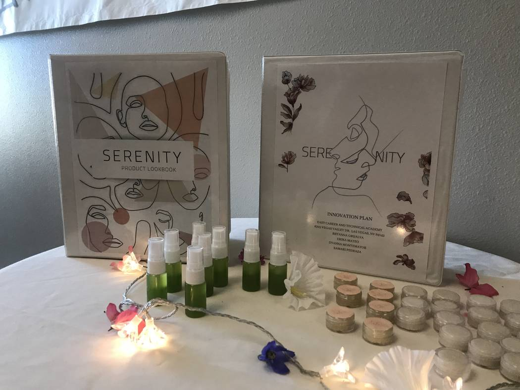 Students who created the business Serenity created a product look-book, innovation plan and samples for guests during the presenting of Capstone projects at the East Career and Technical Academy ...