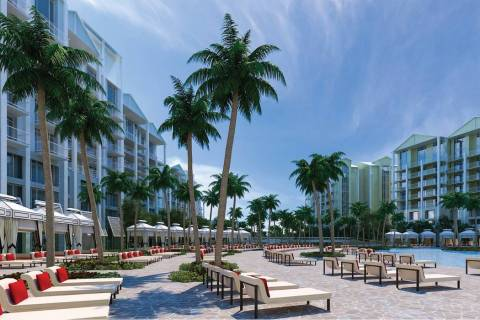 Allegiant Air's parent company plans to build a 22-acre resort, a rendering of which is seen here, in Port Charlotte, Florida. (Courtesy Allegiant Travel Co.)
