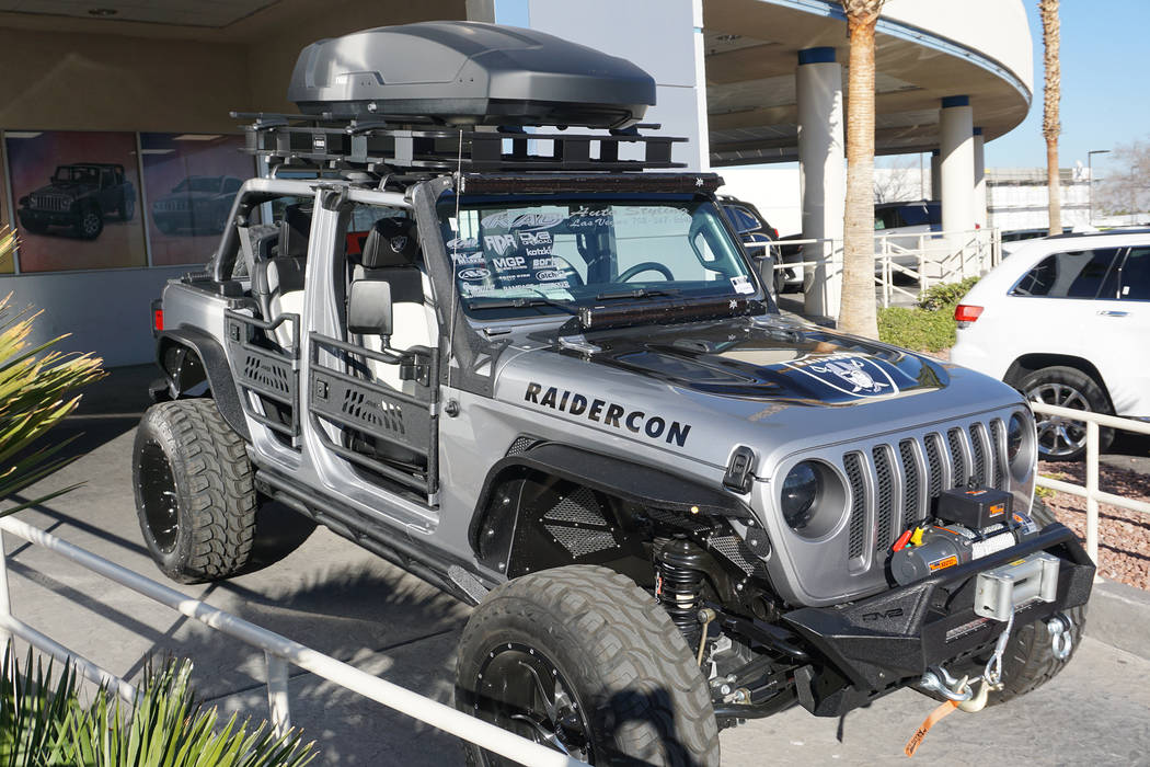 The 2018 Raidercon Jeep welcomes Raider Nation to Las Vegas. (Chapman Chrysler Jeep)