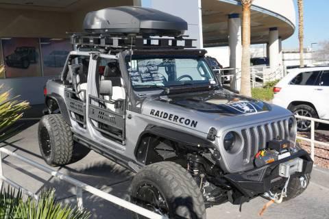 The 2018 Raidercon Jeep welcomes Raider Nation to Las Vegas. (Chapman Chrysler Jeep)