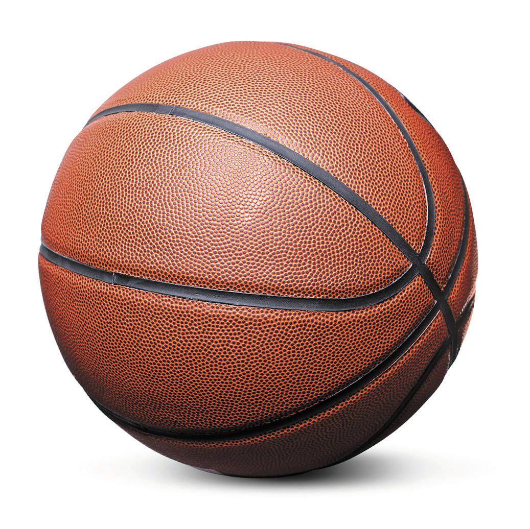 Getty Images Basketball isolated over a white background.