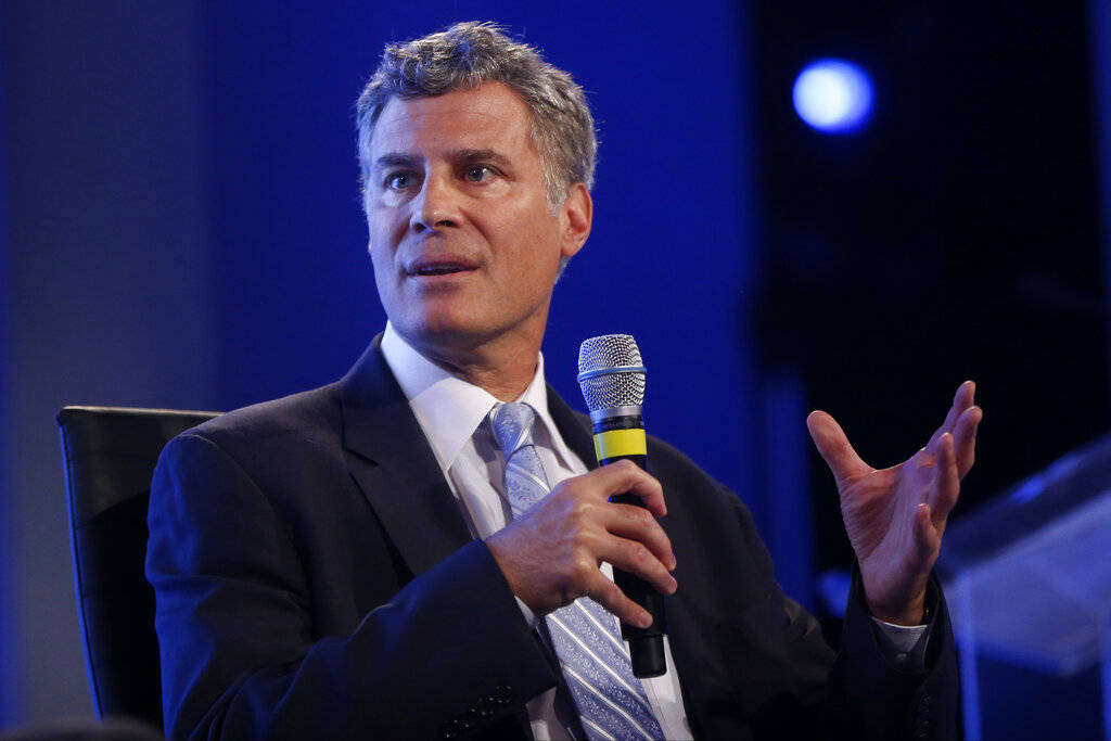 In this May 14, 2014, file photo Alan Krueger, professor of economics and public affairs at Princeton University, speaks at the 2014 Fiscal Summit organized by the Peter G. Peterson Foundation in ...