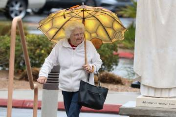 Las Vegas can expect a warm Tuesday, March 19, 2019, and a chance of rain on Tuesday. Bizuayehu Tesfaye Las Vegas Review-Journal @bizutesfaye