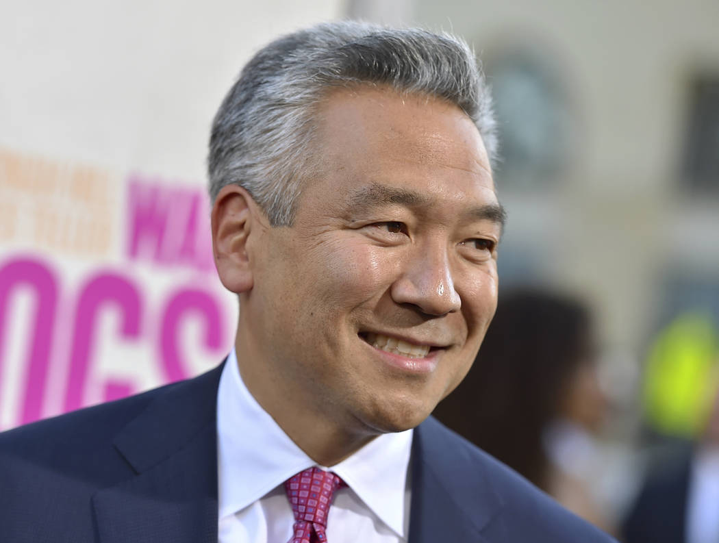 "Kevin Tsujihara, chairman and CEO, Warner Bros. Entertainment, arrives at the Los Angeles premiere of ""War Dogs,"" Aug. 15, 2016. Tsujihara is stepping down after claims that he promised acting ro ..."