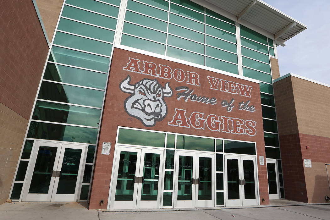Arbor View High School in Las Vegas, Tuesday, March 19, 2019. Erik Verduzco Las Vegas Review-Journal @Erik_Verduzco
